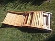 Деревянный лежак - шезлонг ERGO (дерево черешня), фото 8