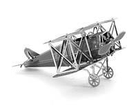 Конструктор 3D металлический Скоростной истребитель Фоккер D-VII Сборная модель