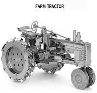 Конструктор 3D металлический Трактор Сборная модель