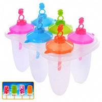 Формы для мороженого пластик 6шт/наб 16.5*10см