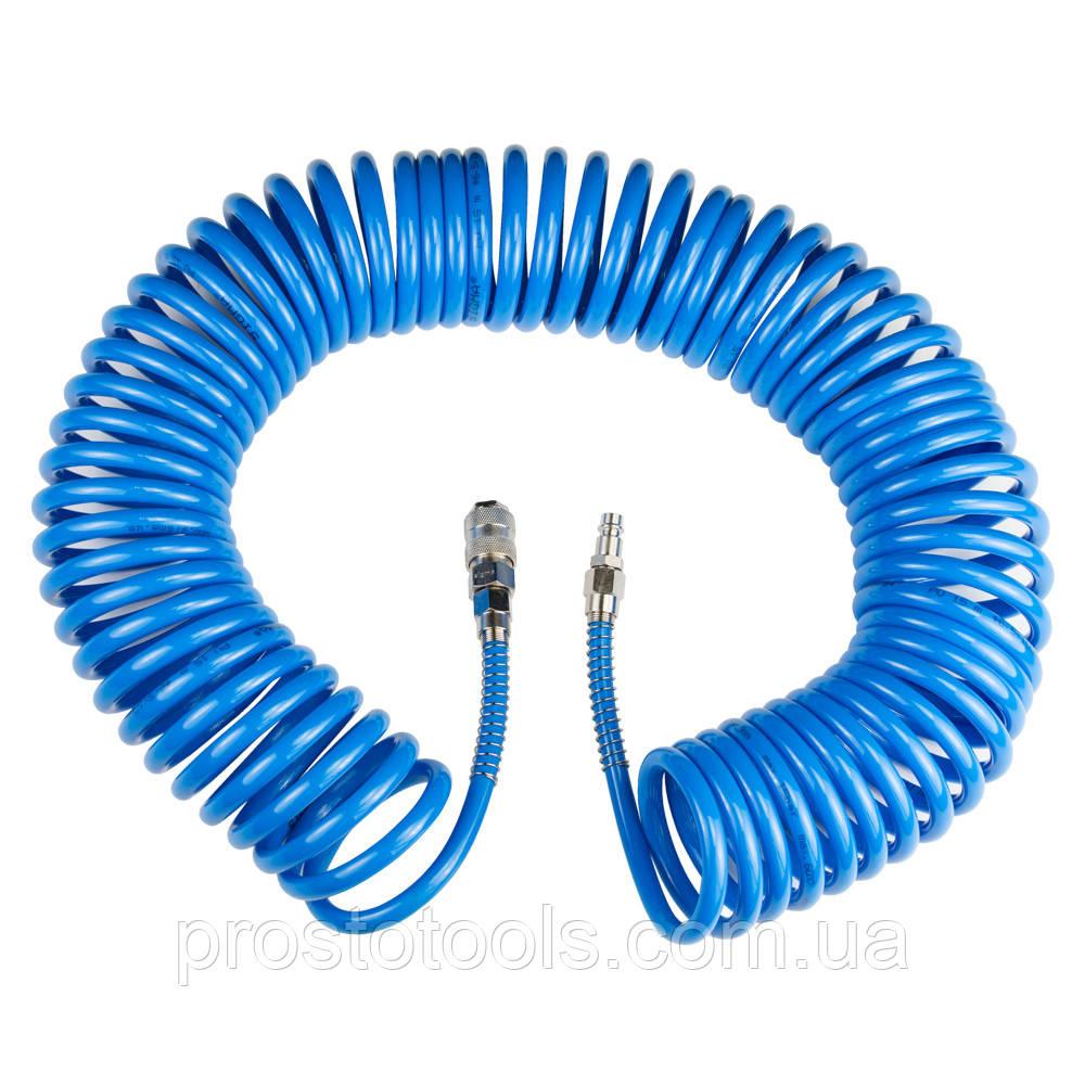 Шланг спиральный полиуретановый (PU) 15м 6.5×10мм Sigma (7012131)