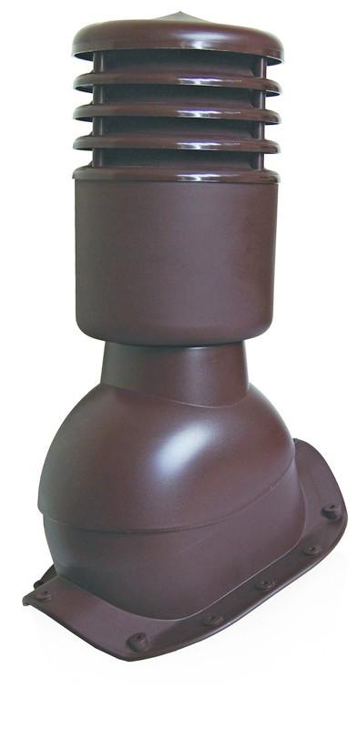 Вентиляционный выход утепленный с колпаком Kronoplast KBXO для металлочерепицы высокий профиль волна до 45 мм. Коричневый - Оксамит Винница в Виннице
