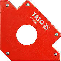 Струбцина магнитная Yato для сварки 102 Х 155 Х 17 мм 22.5 кг Ø=28 мм