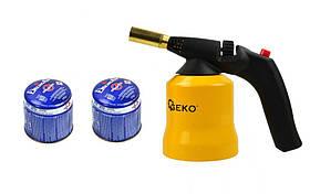 Газовый паяльник GEKO G20071 + 2x G20075