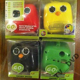 Портативная колонка MP3 USB micUSB FM Angry Birds