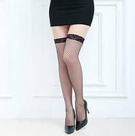 Сексуальные женские чулки, мелкая сетка, интим вариант, фото 1