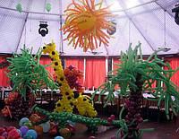 Праздничное украшение зала ко дню рождения