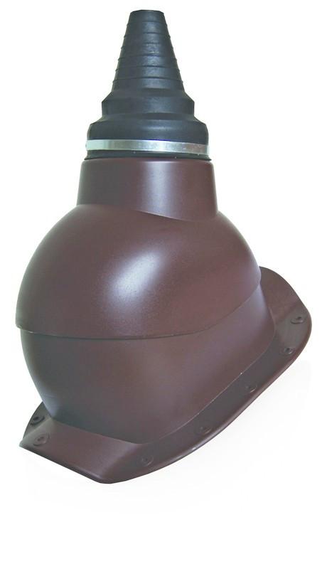 Антенный выход для антенн и труб 12-90 мм  Kronoplast PABW для металлочерепицы высокий профиль до 30 мм.