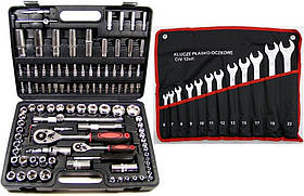 Набор ключей 109 шт + набор ключей 6-22 мм 12 шт