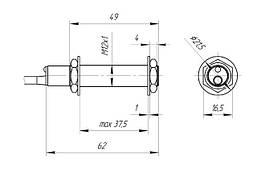 Индуктивный датчик HURON LJ12A3-4-Z/BX NPN NO открытый, фото 3
