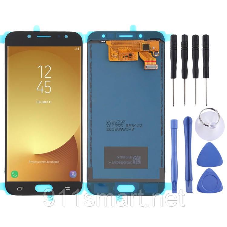 Дисплей, модуль, екран для Samsung Galaxy J7 J730F / DS, J730FM чорний