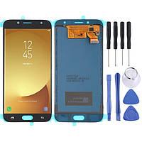 Дисплей, модуль, экран для Samsung Galaxy J7 J730F / DS, J730FM   золотой,  синий