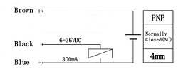 Индуктивный датчик HURON LJ12A3-4-Z/AY PNP NC закрытый, фото 3