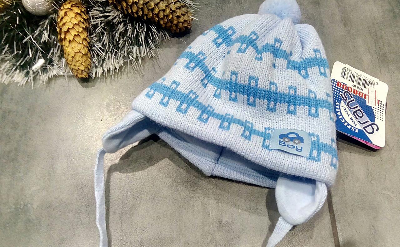 Тёплая шапочка на флисе  р-р 36-38
