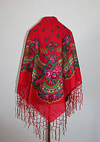 Українська хустка Червоний мак (Украинский платок Красный мак)