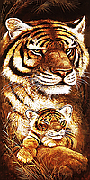 """Набор алмазной вышивки (мозаики) триптих """"Мамина любовь. Тигры"""" часть 3"""