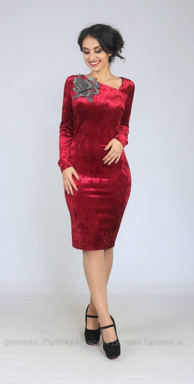 Стильное платье велюр бархатНовый год