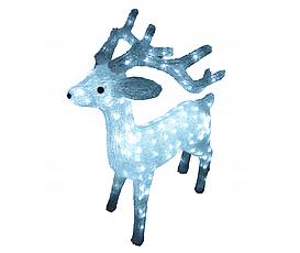 Новогодняя акриловая статуя олень средний RENIFER, Светящиеся новогодние олени 160 LED