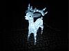 Новогодняя акриловая статуя олень средний RENIFER, Светящиеся новогодние олени 160 LED, фото 4