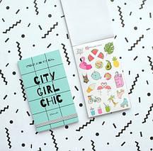 Книга с наклейками Sticker Book City Girl Chic, фото 3