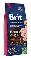 Корм Brit Premium by Nature Junior L Брит Преміум юніор дог Л для цуценят 15 кг