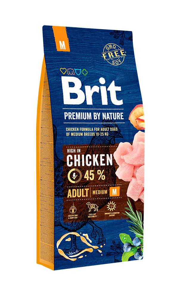 Корм Brit Premium by Nature Adult М Брит Преміум едалт дог М для собак 3 кг