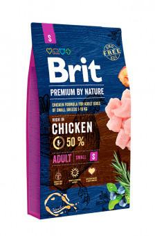 Корм Brit Premium by Nature Adult S Брит Преміум едалт дог S для собак 3 кг