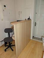 Ресепшн стойка мини прямая маленькая для офис менеджера (R-69)
