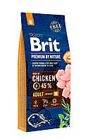 Корм Brit Premium by Nature Adult М Брит Преміум едалт дог М для собак 15 кг