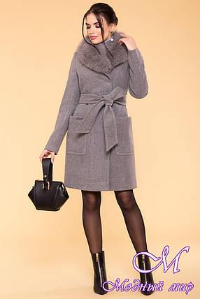 Женское зимнее пальто с песцом (р. S, М, L) арт. Мила 5498 - 37005, фото 2