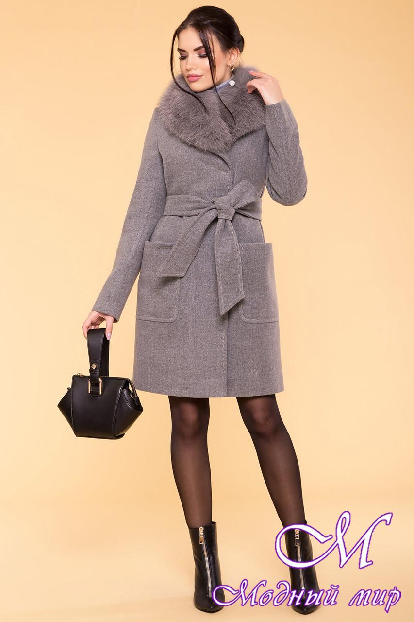 Женское зимнее пальто с песцом (р. S, М, L) арт. Мила 5498 - 37005