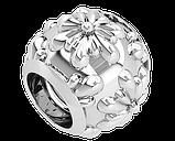 Намистина срібна Шарм Квітка Bs_92219, фото 2