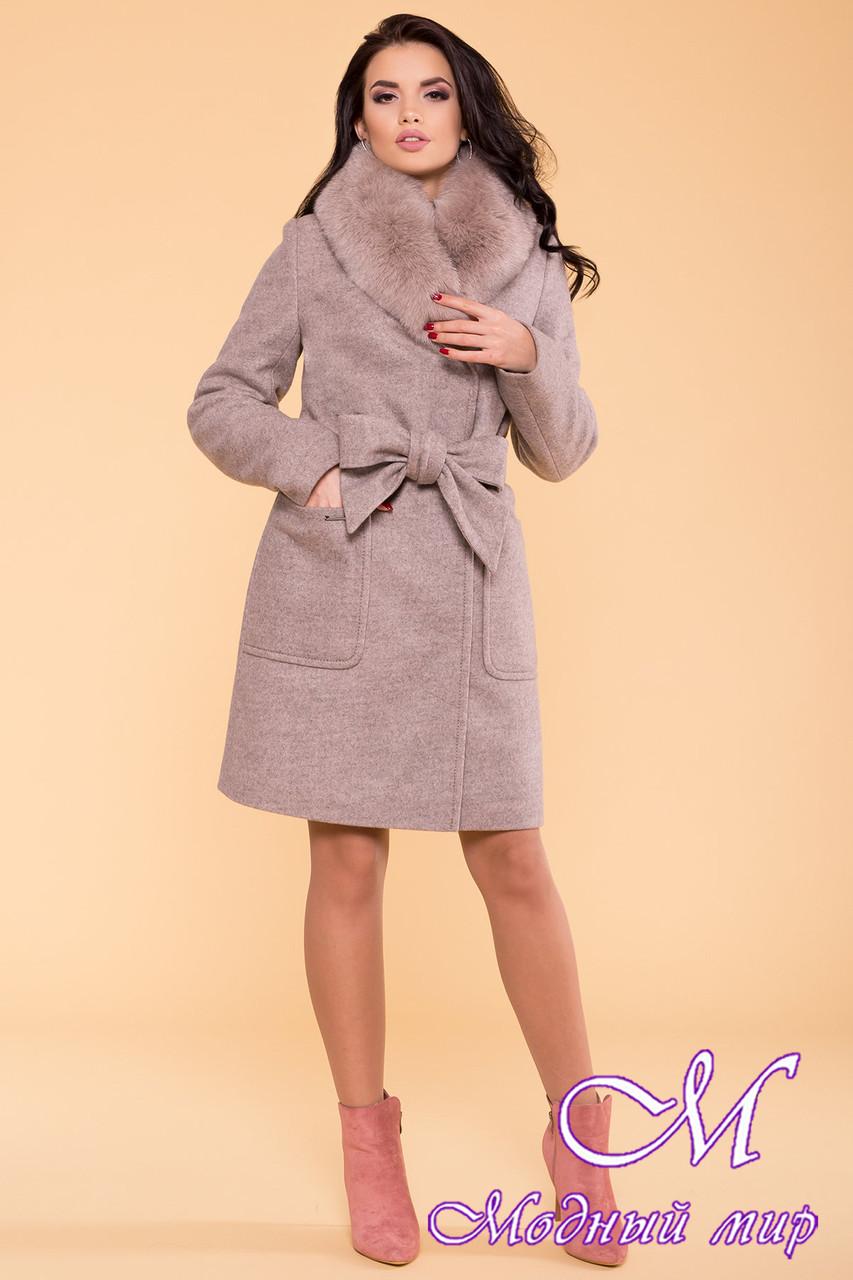 Красиве жіноче зимове пальто з хутром (р. S, М, L) арт. Міла 5498 - 39424