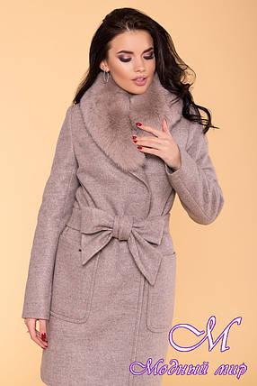 Красиве жіноче зимове пальто з хутром (р. S, М, L) арт. Міла 5498 - 39424, фото 2