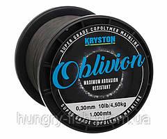 Леска Kryston Oblivion Super Grade Copolymer 1000м Matt Dark Silt
