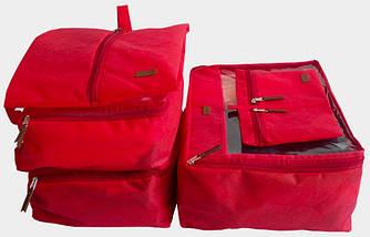 Набор дорожных сумок 5 шт (красная), фото 2