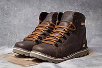 Зимние ботинки на меху CAT Caterpilar, коричневые (30752),  [  40 41 42 43 44 45  ]