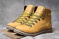 Зимние ботинки на меху CAT Caterpilar, песочные (30751),  [  42 43  ]