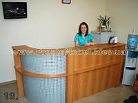 Ресепшн в офис компании, изготовление ресепшн под заказ в Киеве (R-39)