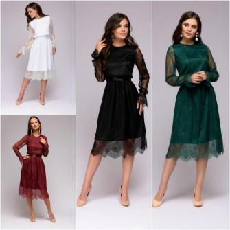 Платье 8018 L/белый