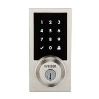 Умный беспроводной замок Kwikset/Weiser Premis Touchscreen Smart Lock Satin Nickel