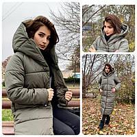 Пальто зима, артикул 521, цвет фельтграу (серо-зеленый)