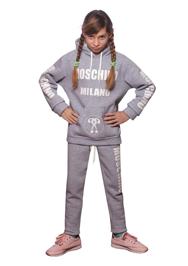 Зимний модный спортивный костюм для детей и подростков