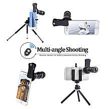 Комплект объективов на телефон 4 в 1 + трипод, фото 3