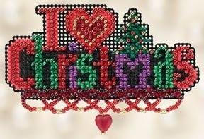 Набір для вишивки Mill Hill I Love Christmas/Я люблю Різдво