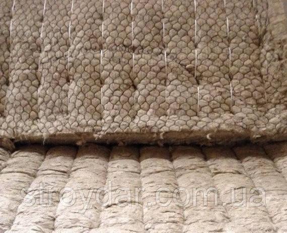 Базальтові прошивні мати на металевій сітці 60мм