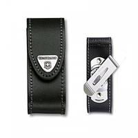 Victorinox Викторинокс чехол для ножа на пояс 84 - 91м 2 - 4 уровня на липучке из черной кожи