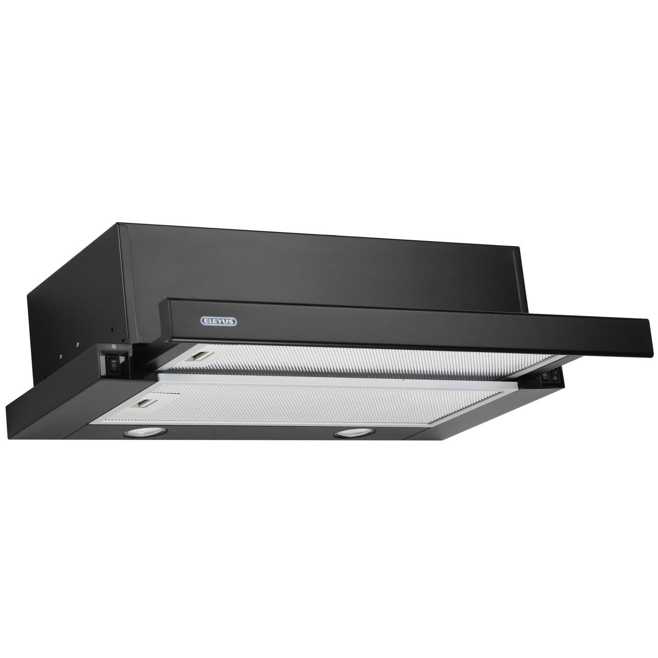 Витяжка кухонна телескопічна ELEYUS Storm 700 LED SMD 60 BL (чорна)
