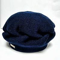 Берет вязаный женский Коса La Visio т.синий 22e6c30f63ee0