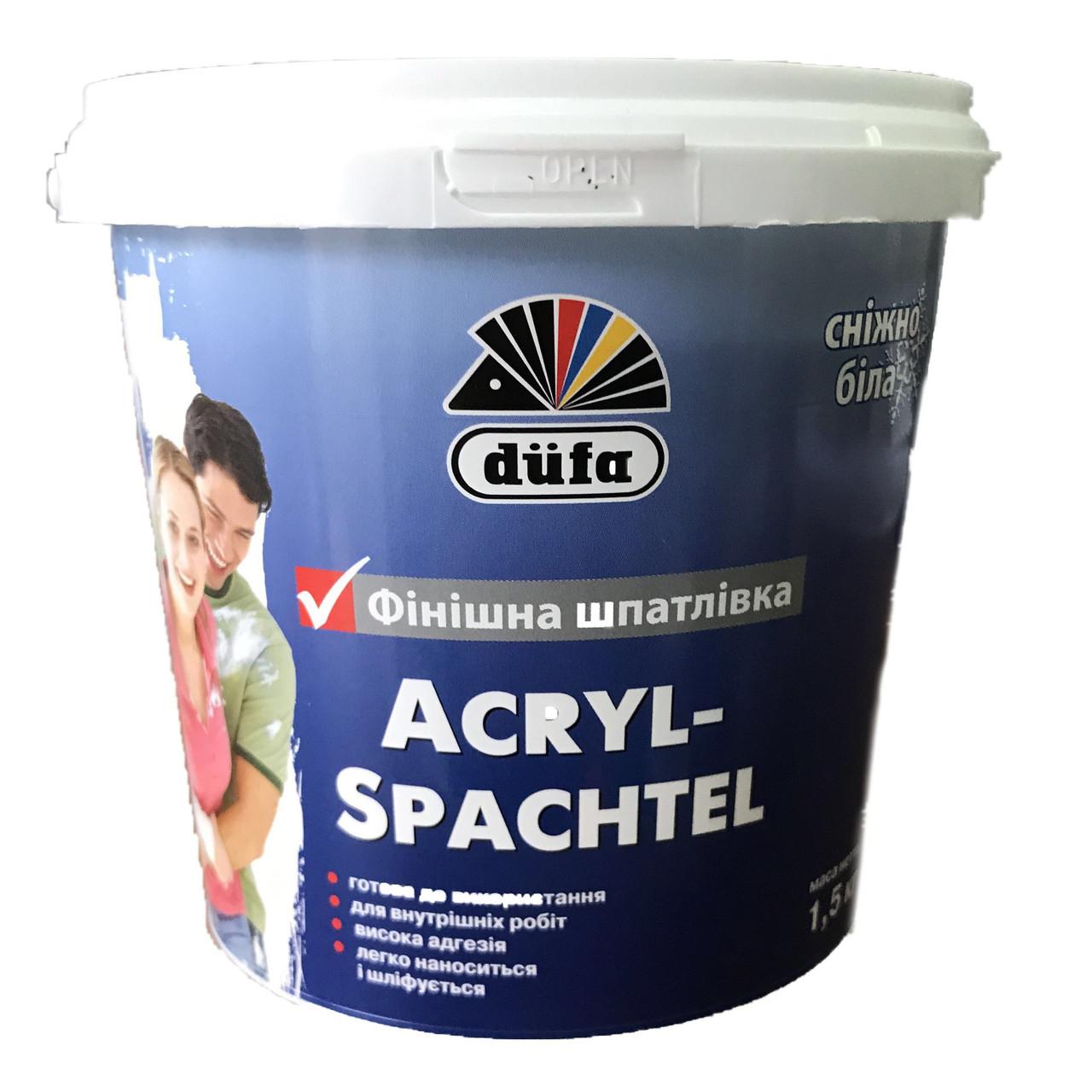 Шпаклівка фінішна Dufa Acryl-Spachtel 1,5кг
